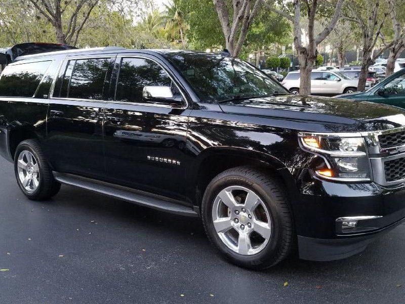 black Chevrolet Suburban suv